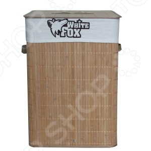 Корзина для белья квадратная White Fox BAMBOO Standart корзина для белья tatkraft california квадратная с внутренним чехлом