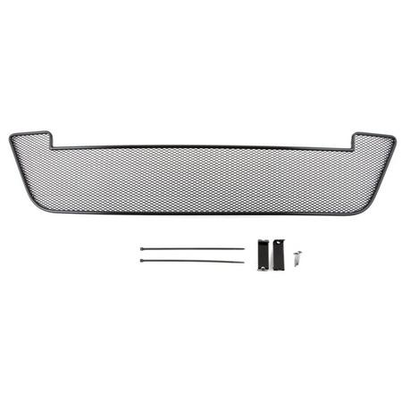 Купить Сетка на бампер внешняя Arbori для Nissan Almera, 2013. Цвет: черный