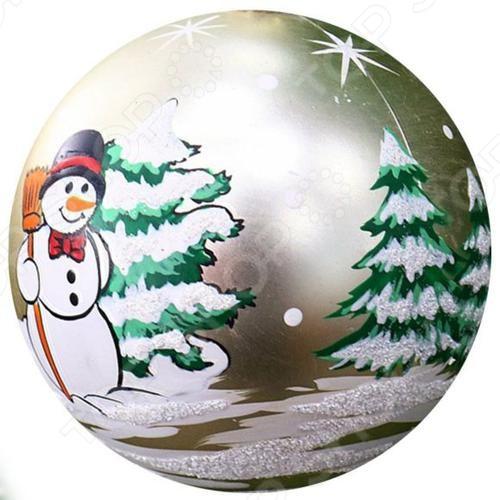 Елочное украшение Новогодняя сказка «Шар» 973283 украшение елочное шар красный с блестками 13 см красный полимерный материал