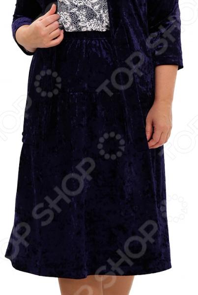 Юбка Лауме-Лайн «Черничные очи». Цвет: темно-синий