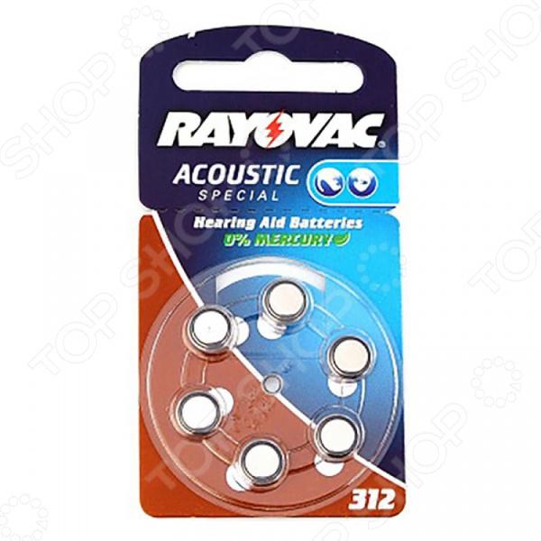 Элемент питания VARTA Rayovac AC.TYPE 312 6 батарейка varta max tech с блистер 2шт