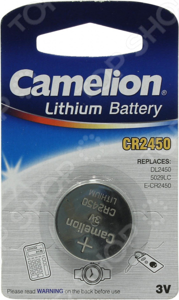 Фото - Батарейка литиевая Camelion CR2450 BL-1 батарейка camelion lr44 g13 bl 10 ag13 bp10 1 штука