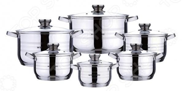посуда wb Набор посуды для готовки Wellberg WB-02118