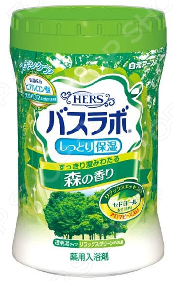 Соль для ванны Hakugen Eartn HERS Bath Labo с ароматом леса цена