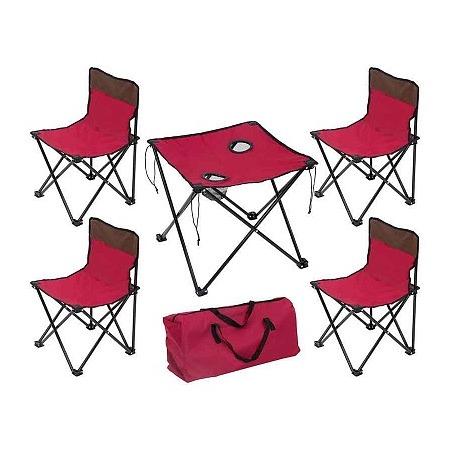 Купить Набор складной мебели в чехле TD-10. Цвет: темно-вишневый