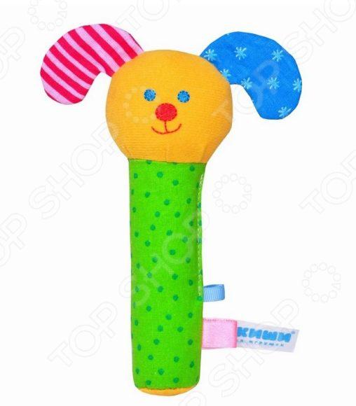 Мягкая погремушка Мякиши «Собачка». В ассортименте мягкая игрушка погремушка мякиши собачка колечко цвет зеленый белый