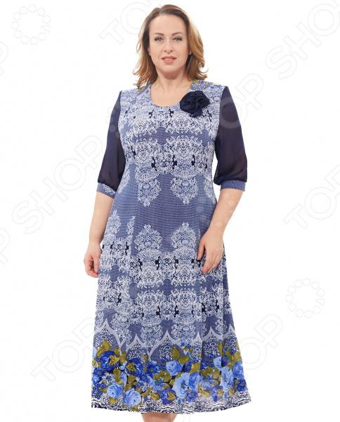 Платье Blagof «Камелия». Цвет: синий 200 здоровых навыков которые помогут вам правильно питаться и хорошо себя чувствовать