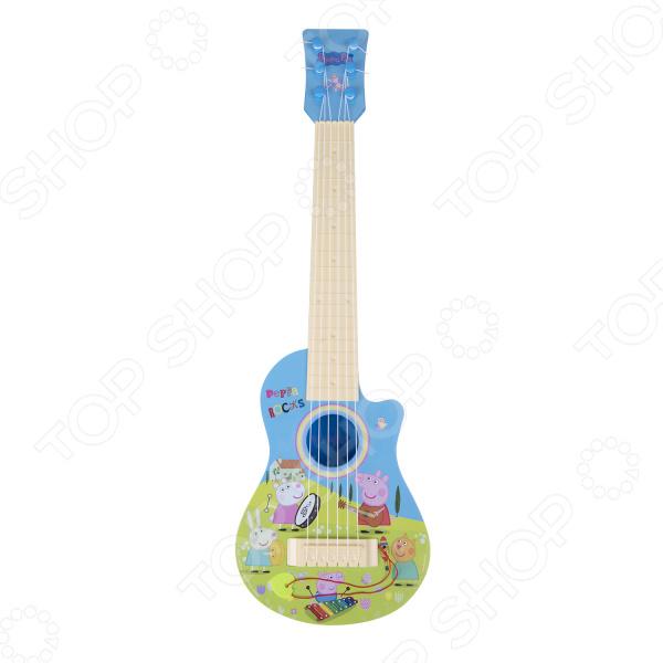 Гитара игрушечная Peppa Pig «Гитара Пеппы» пенал с наполнением herlitz rose butterfly 31 предмет