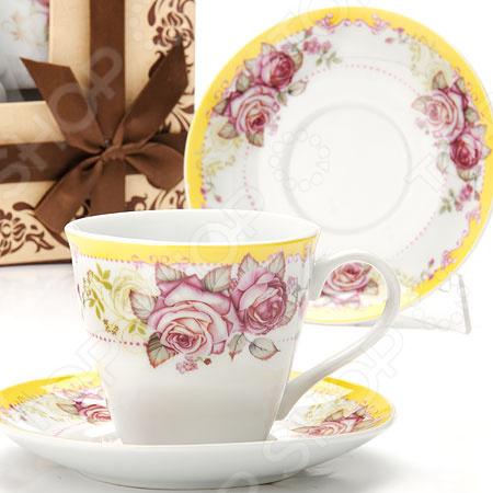 Чайный набор Loraine «Розы» LR-25794 ens group сахарница с ложкой aldon 8 см