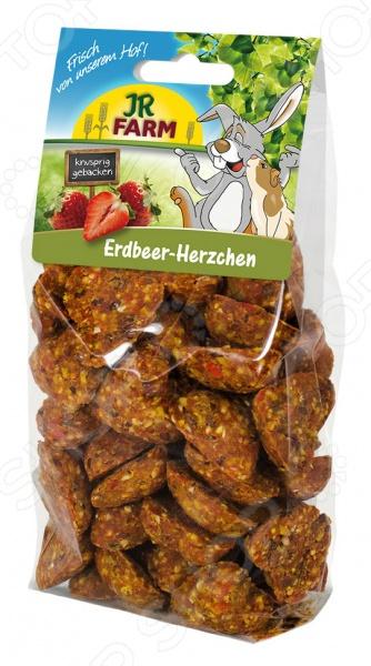 Лакомство для грызунов JR Farm Erdbeer Herzchen
