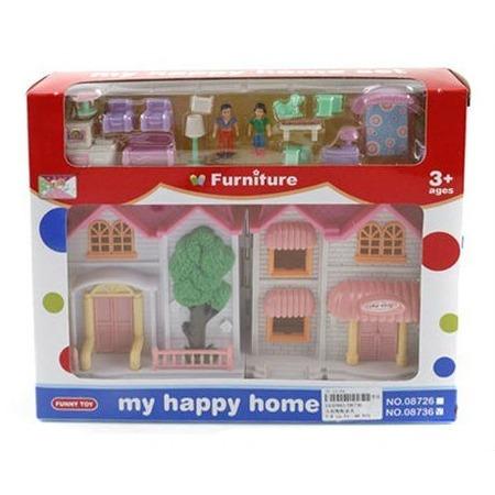 Купить Кукольный дом с аксессуарами Shantou Gepai «Дружная семья»