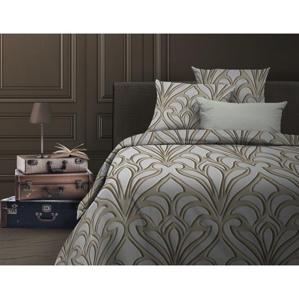 фото Комплект постельного белья Wenge Eccentric. 2-спальный. Цвет: светло-серый, бежевый