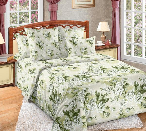Комплект постельного белья Королевское Искушение «Белый сад». Евро