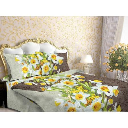 Купить Комплект постельного белья Fiorelly «Нарциссы». 1,5-спальный