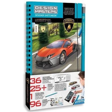 Купить Набор с эскизами и трафаретами Desing Masters Lamborghini