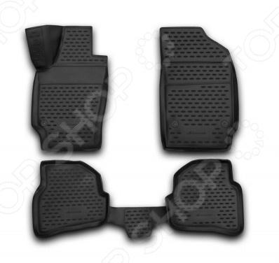 Комплект 3D ковриков в салон автомобиля Novline-Autofamily Volkswagen Polo 2010 комплект 3d ковриков в салон автомобиля novline autofamily volkswagen touareg 2010 2015 2015