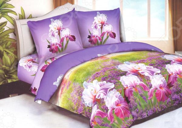 Комплект постельного белья «Сладкий сон». 1,5-спальный. Рисунок: ирисы