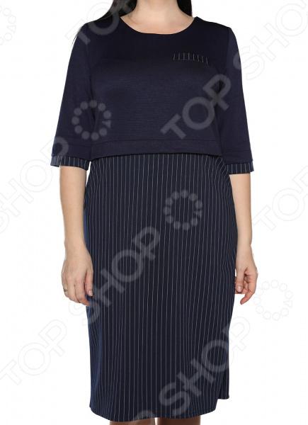 Платье LORICCI «Дамское счастье». Цвет: синий платье loricci белые ночи цвет коричневый