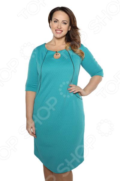 Платье Pretty Woman «Пикантный вид». Цвет: бирюзовый