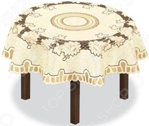 Скатерть круглая Haft 226563 скатерть haft круглая цвет кремовый золотистый диаметр 120 см 226563