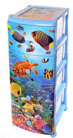 Комод детский 4-х секционный Violet 0352 «Океан»