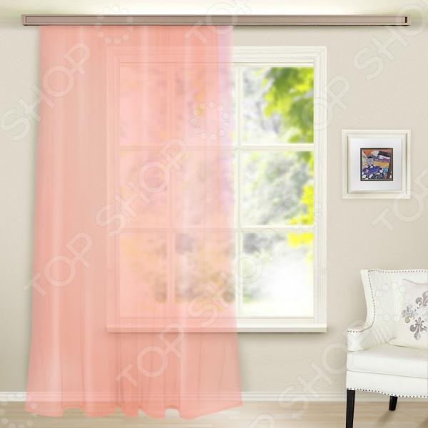 Тюль WITERRA «Вуаль». Цвет: розовый