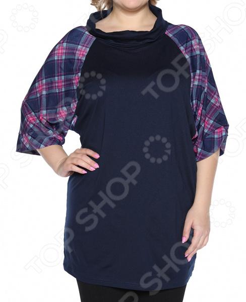 Туника Jenks «Привлекательный вид». Цвет: синий блуза jenks счастливое настроение цвет фиолетовый