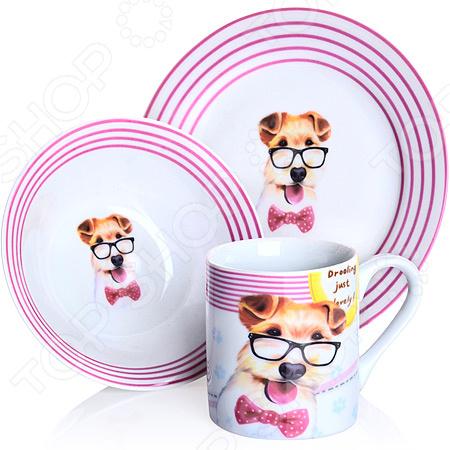 Набор посуды для детей Loraine LR-27118 «Собачка»