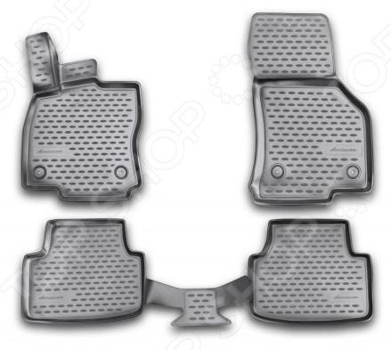 Комплект 3D ковриков в салон автомобиля Novline-Autofamily Skoda Octavia 2013 комплект 3d ковриков в салон автомобиля novline autofamily ford f250 f350 super crew 2009 2013