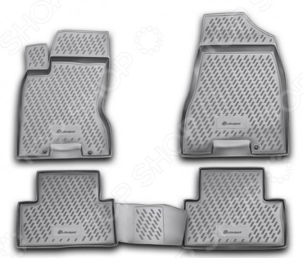 Комплект ковриков в салон автомобиля Element Nissan X-Trail, 2007-2015 abs chrome door body side molding trim cover for nissan x trail x trial xtrail t32 2014 2015 2016 2017 car styling accessories