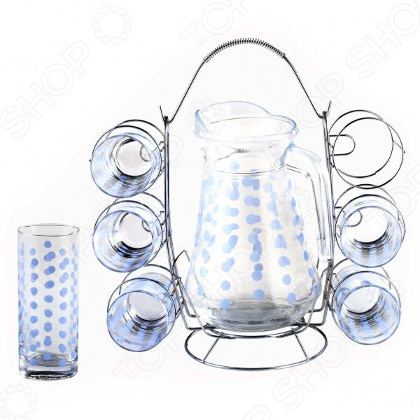 Набор: кувшин и 6 стаканов Bekker BK-5819. В ассортименте