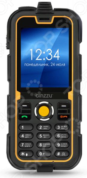 Мобильный телефон защищенный Ginzzu R62D телефон dect gigaset l410 устройство громкой связи