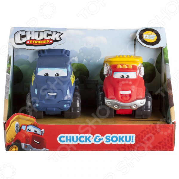 Набор машинок игрушечных Chuck & Friends «Чак и Соку»