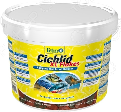 Корм для всех видов цихлид Tetra Cichlid XL корм tetra marine xl flakes для любых морских рыб крупные хлопья 500 мл 80 г