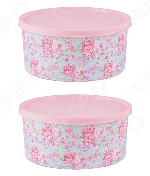 Набор контейнеров круглых Полимербыт Fleur «Прованс» SGHPBKP480