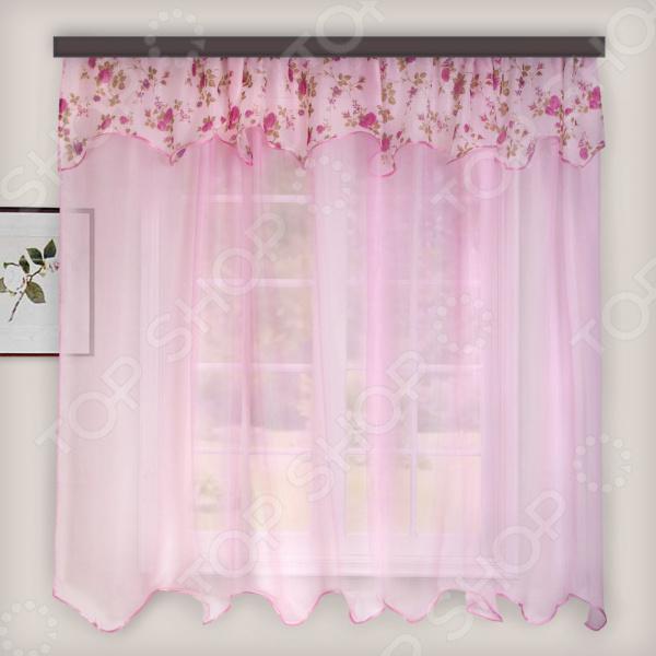 Гардина легкая WITERRA «Нежность». Цвет: темно-розовый. В ассортименте