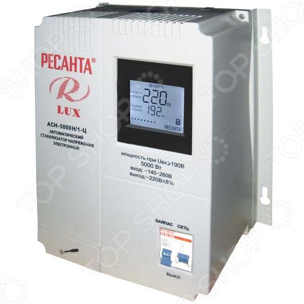 Стабилизатор напряжения Ресанта АСН 5000 Н/1-Ц Lux