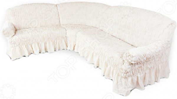 Рано или поздно интерьер квартиры приедается, родные стены теряют былой уют и изюминку . Что же делать Конечно, реанимировать жилище! Однако мало тех, кто захочет проводить косметический ремонт, переклеивать обои, покупать новую мебель. Есть лучшее решение съемный чехол для дивана. Он легко и эффектно обновит интерьер, вдохнет в него новую жизнь и, что немаловажно, потребует от вас минимальных усилий!  Натяжной чехол на классический угловой диван Фантазия. Белый мрамор качественное, практичное и стильное дополнение домашнего текстиля. Универсальная молочная расцветка изделия поможет гармонично вписать диван в любой интерьер. Этот утонченный оттенок прекрасно сочетается с большинством цветов. Поэтому можете смело подбирать к нему разнообразные предметы декора и обставлять ими гостиную. Качественно, стильно, практично! Помимо превосходных декоративных свойств, чехол отличается и первоклассным качеством:  он очень прочен и износоустойчив;  не теряет насыщенность цветов даже после длительного использования;  хорошо переносит ручные и машинные стирки;  не содержит аллергенов;  невероятно приятен на ощупь;  устойчив к растяжениям.  Оригинальный гофрированный материал на эластичной основе плотно облегает мебель его невозможно отличить от родной обивки дивана. Изящный сливочный оттенок станет гармоничным продолжением вашей гостиной, внесет в нее изысканные и чувственные нотки. Чтобы добиться подобного эффекта, достаточно всего несколько минут.  Именно поэтому съемный чехол для мягкой мебели выбор современных практичных людей, которые ценят свое время и грамотно расходуют средства! Одежда для вашей мебели Способов обновить старую мебель не так много. Чаще всего приходится ее выбрасывать, отвозить на дачу или мириться с потертостями и поблекшими цветами. Особенно обидно избавляться от мебели, когда она сделана добротно, но обивка подвела. Эту проблему решают съемные чехлы для мебели, быстро набирающие популярность в России. Незаменимы чехлы для мебели в домах с маленькими дет