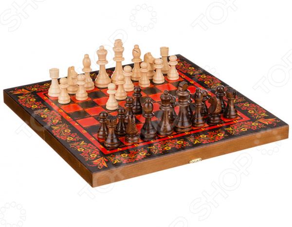 Набор для игры в шахматы, шашки и нарды «Хохлома» 28-342 нарды хохлома