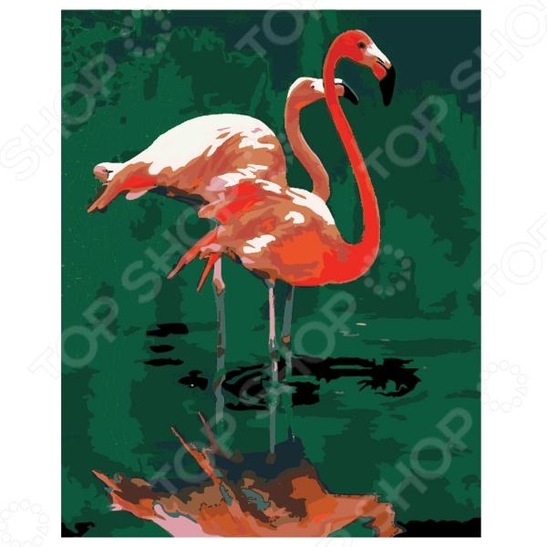 Набор для росписи по холсту Креатто «Розовый фламинго»