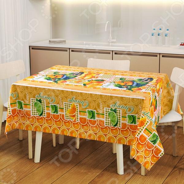 Скатерть ТексДизайн «Мандарин» сервировка стола