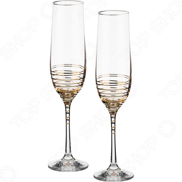 Набор бокалов для шампанского Bohemia Crystal Spiral 674-550 bohemia crystal набор бокалов для шампанского felina 25 см 2 шт