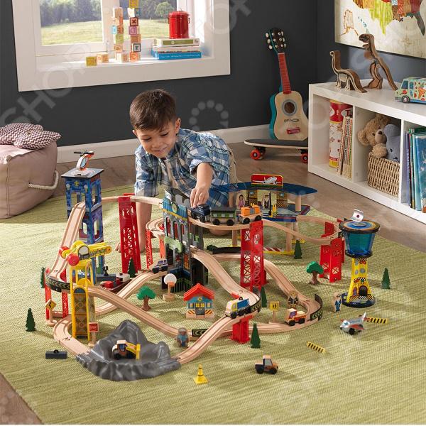 Набор железной дороги игрушечный KidKraft «Супер Хайвей»