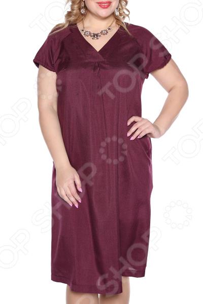 Платье Prima Linea «Изящная». Цвет: бордовый