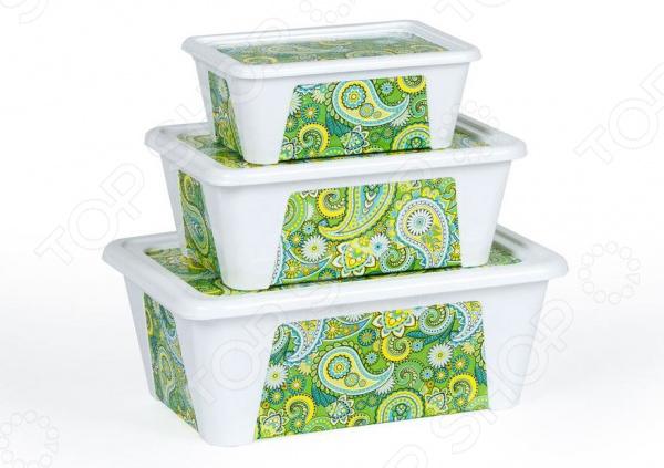 Набор контейнеров для продуктов Полимербыт SGHPBKP76 «Пейсли»