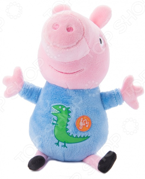 Мягкая игрушка интерактивная Peppa Pig «Джордж» свиньи page peppapig 30см плюшевые игрушки peppa pig джордж грязи