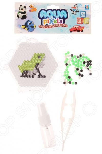 Мозаика с аппликацией 1 Toy Aqua pixels Т11385