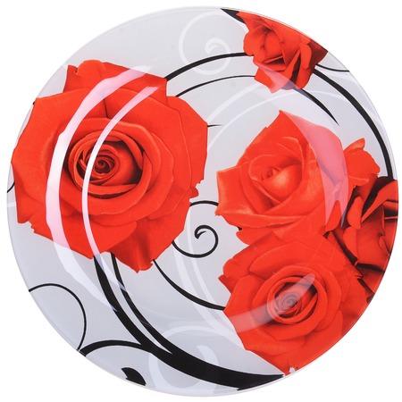 Купить Набор стеклянной посуды «Розы». Количество предметов: 19