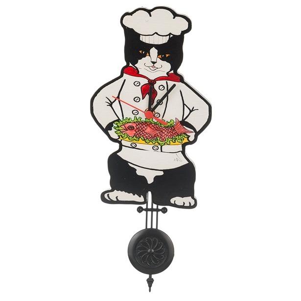 фото Часы настенные Lefard «Кошка-повар» 229-188