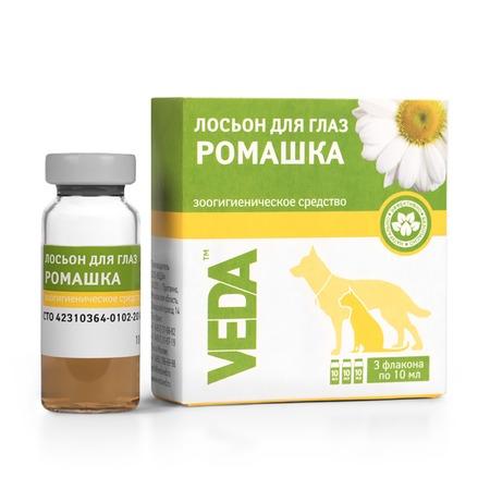 Лосьон глазной бактерицидный для кошек и собак Veda «Ромашка»
